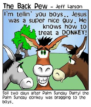 donkey cartoons, palm sunday cartoons