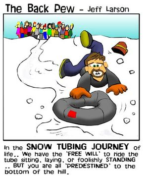 minnesota cartoons, christian cartoons, snow tubing cartoons