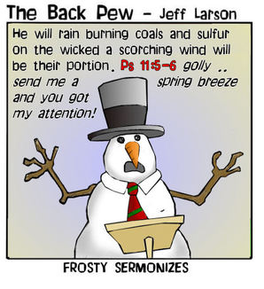 snowman cartoons, christian cartoons, snowman sermon cartoons