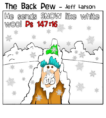 minnesota cartoons, christian cartoons, winter cartoons, psalms 147:16