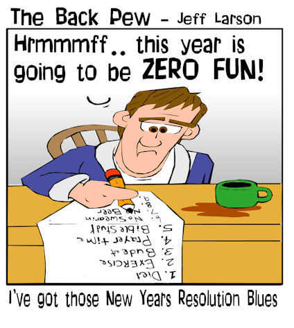 New years cartoons the back pew new years resolution cartoons christian cartoons voltagebd Choice Image