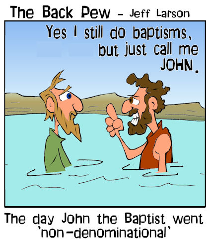 gospel cartoons, gospels cartoons, christian cartoons, john the baptist cartoons, baptism cartoons