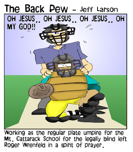 baseball cartoons, christian cartoons, umpire cartoons, sports cartoons