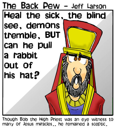 gospel cartoons, high priest cartoons, Jesus cartoons, Jesus miracles cartoons