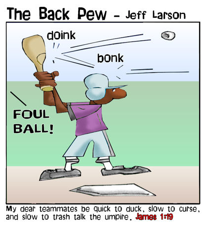 baseball cartoons, christian cartoons, umpire cartoons, sports cartoons, batter cartoons