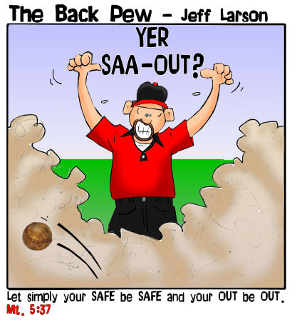 softball cartoons, umpire cartoons, sports cartoons, you are out cartoons