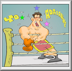 sports cartoons, christian cartoons, boxing cartoons