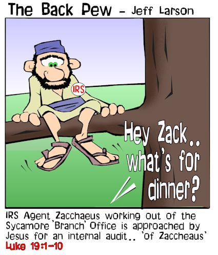 Zacchaeus cartoons, gospel cartoons, Jesus cartoons, Luke 19:1-10