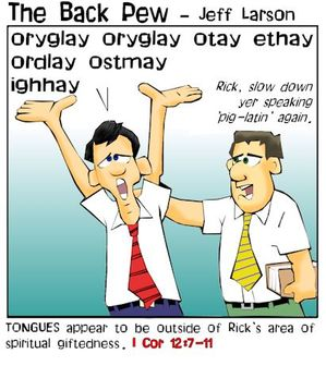 christian cartoons, gifts of the spirit cartoons, holy spirit cartoons, pig latin cartoons