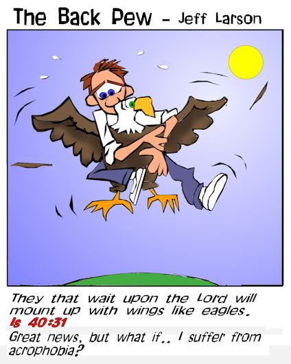 major prophets, Isaiah, cartoons, old testament, Isaiah 40:31, mount up with wings like Eagles