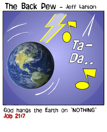 christian cartoons, astronomy cartoons, Job 21:7