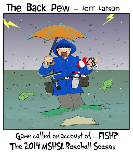baseball cartoons, rain out cartoons, umpire cartoons
