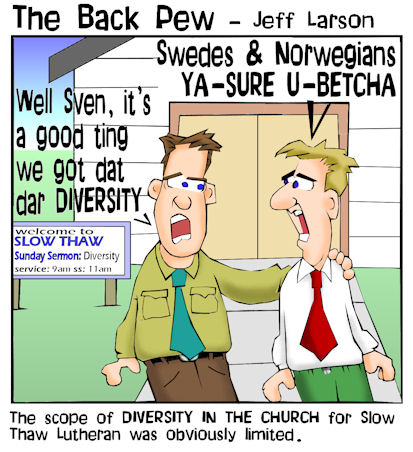 minnesota cartoons, christian cartoons, diversity in minnesota cartoons