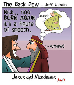 gospel cartoons, nicodemus cartoons, jesus cartoons, John 3