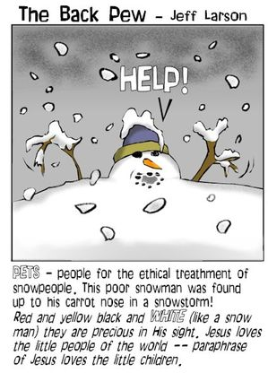 snowman cartoons, christian cartoons, snowman in a blizzard cartoons
