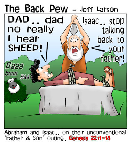 This bible cartoon features the story of Abraham and Isaac