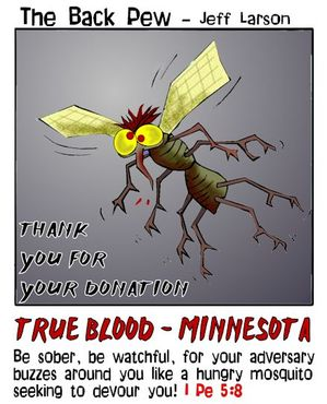mosquito cartoons, christian cartoons