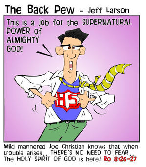 christian cartoons, gifts of the spirit cartoons, holy spirit cartoons, supernatural man cartoons