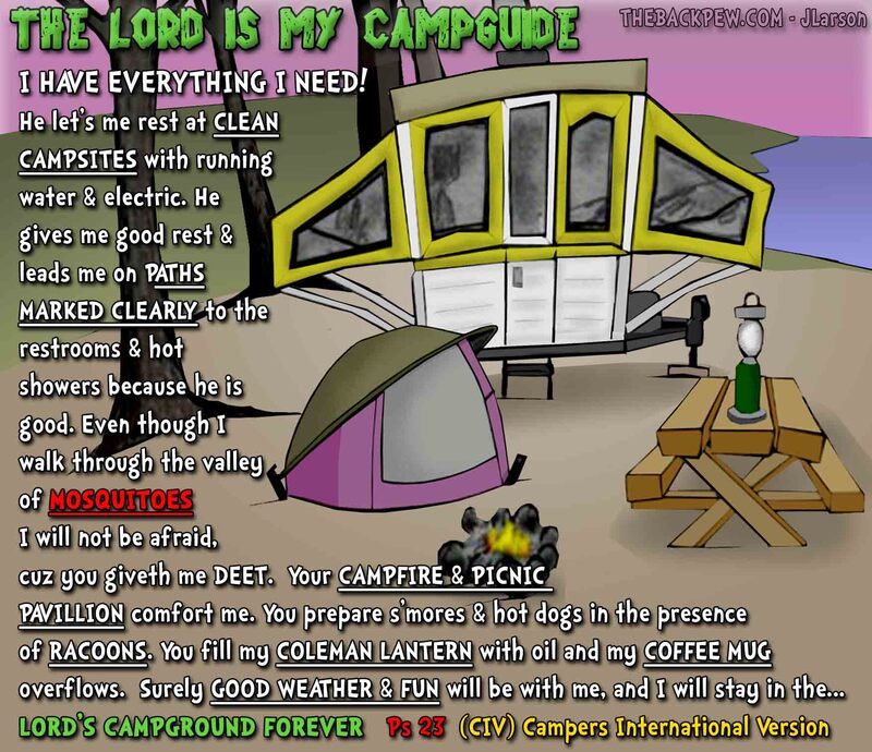 prayer cartoons, christian cartoons, christian prayer cartoons, camping prayer cartoons