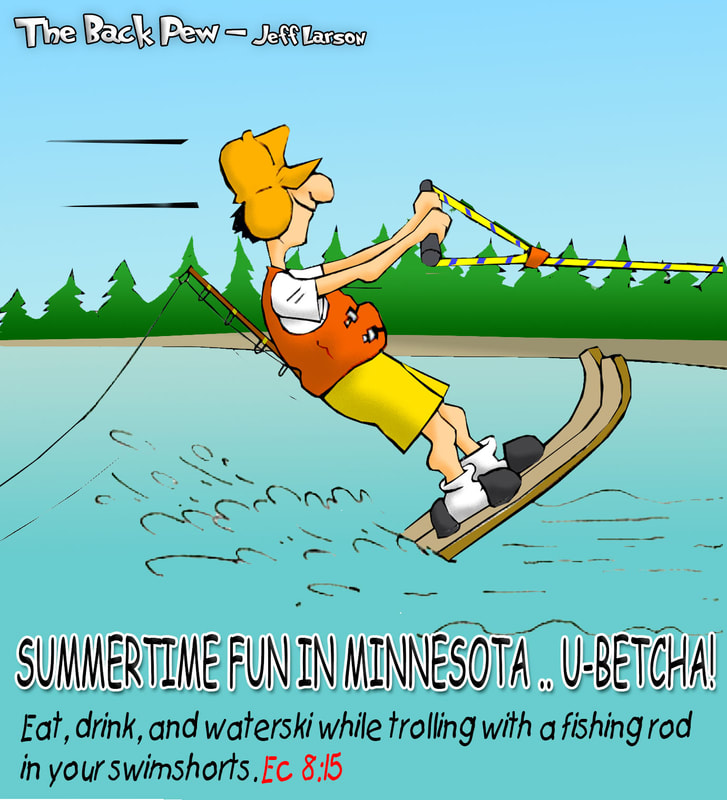 minnesota cartoons, christian cartoons, minnesota summer cartoons