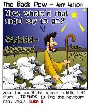 Christmas, cartoons, shepherds, sheep, Luke 2, Bethlehem