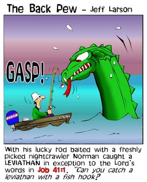 Bible, Jonah, cartoons, Jonah 1:17, Jonah swallowed by a fish