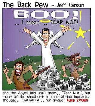 Christmas, cartoons, shepherds, angels, fear not, Luke 2:10
