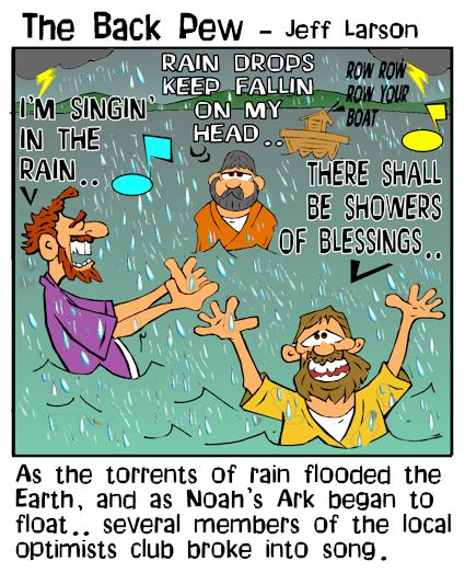 Noah cartoons of the great flood in Genesis 7