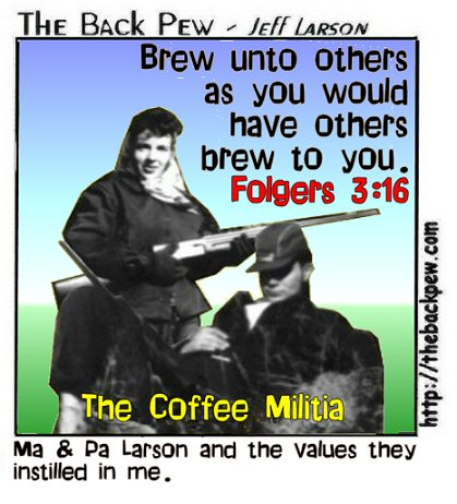 coffee cartoons, christian cartoons, coffee drinking cartoons