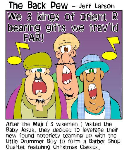3 wisemen cartoons, christmas cartoons