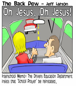 driving cartoons, christian cartoons, prayer in school cartoons, drivers education cartoons