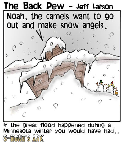 winter, Minnesota, cartoons, Noah's Ark, snow
