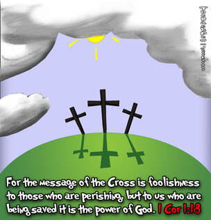 This christian cartoon features the message of salvation of the cross