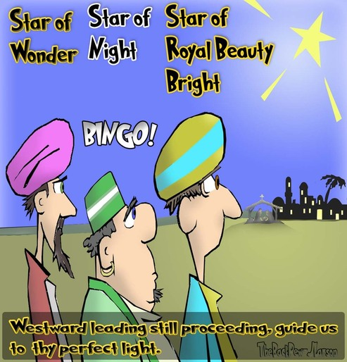 This Christmas Cartoon features the Three Kings aka Wise-men following the Bethlehem Star