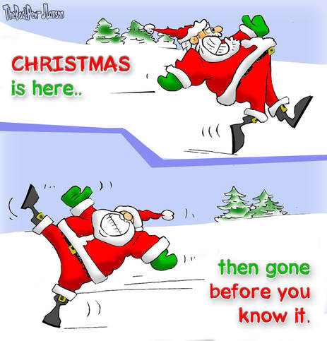 This Christmas Cartoon illustrates just how quickly Christmas is over