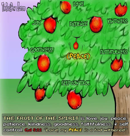 This Christian Cartoon illustrates the Fruit of the Spirit of  God
