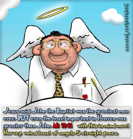 This Heaven cartoon features Harvey, the least of angels