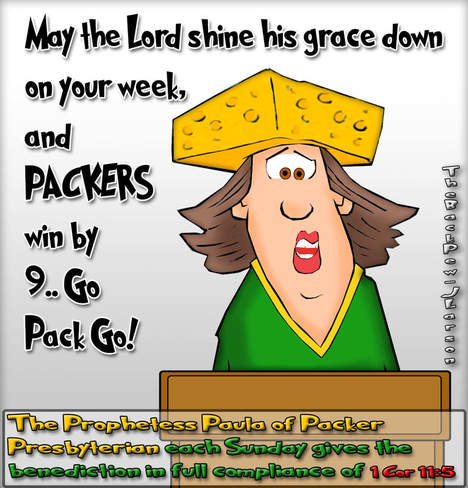 This church cartoon features the Prophetess Paula from Wisconsin