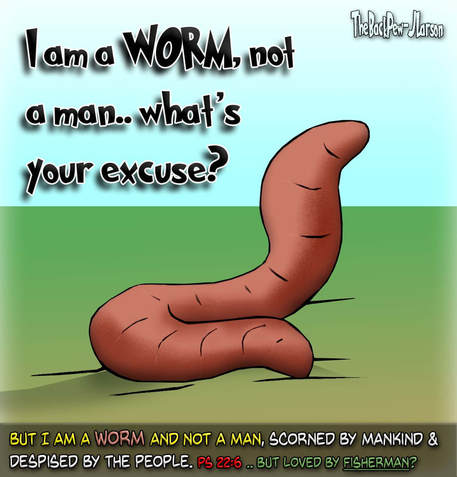 This Christian cartoon features the 'Worm Psalm'?