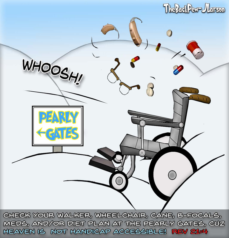 heaven cartoons, christian cartoons, pearly gates cartoons, angel cartoons, handicap accessible heaven cartoons