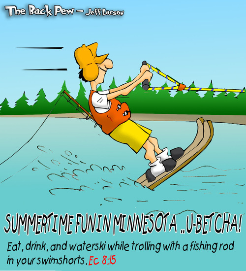 This Minnesota cartoon features fun to be had in the land of 10,000 lakes