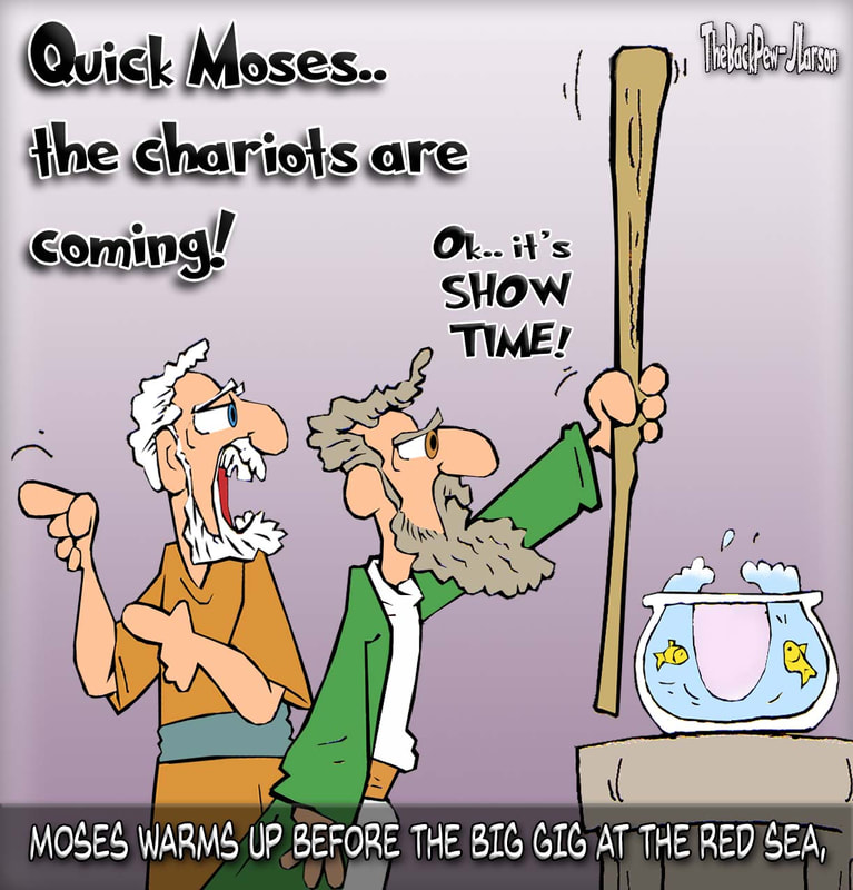 moses parts red sea cartoons, moses cartoons, exodus cartoons, bible cartoons