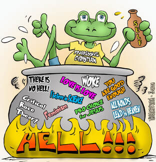 This christian cartoon features the message we are called to salt and light not a frog a boiling pot of compromise