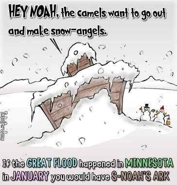 This christian cartoon asks the question what if the great flood during the time of Noah was.. in Minnesota