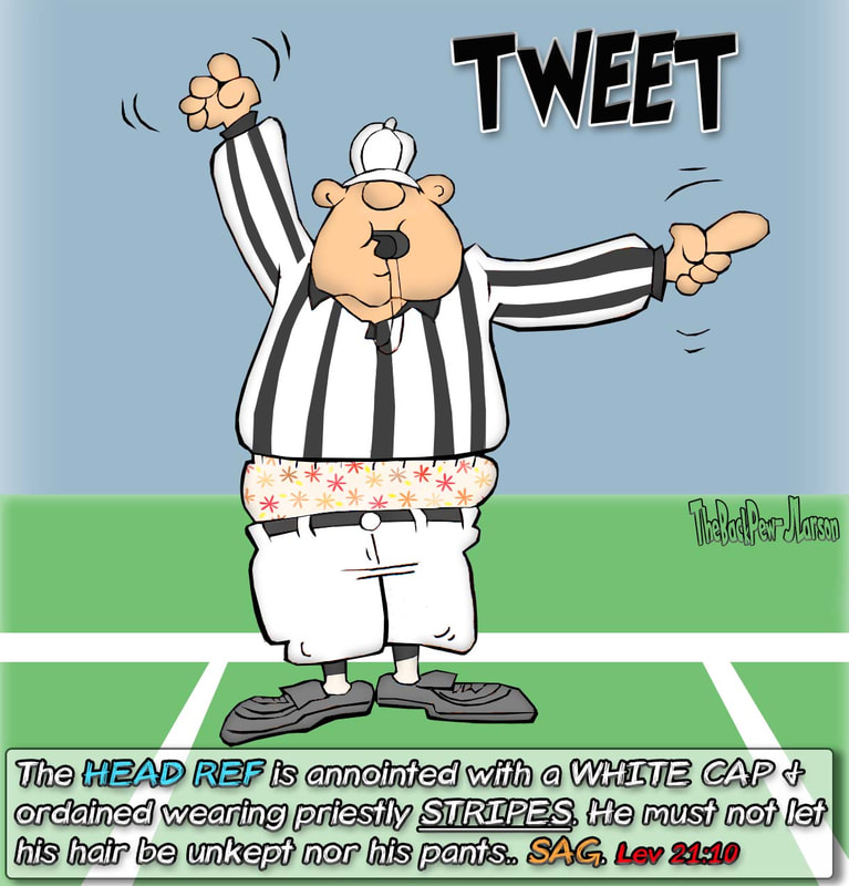 football cartoons, football player cartoons, football ref cartoons, referees who sag cartoons