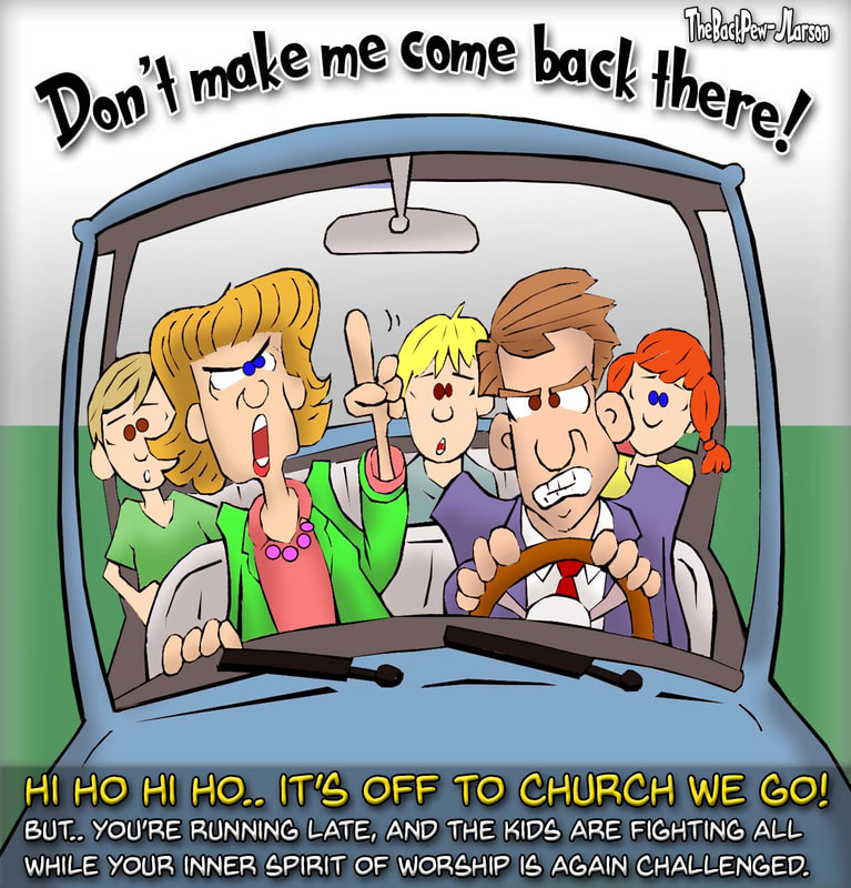 driving cartoons, christian cartoons, driving to church cartoons, proverbs 13:24