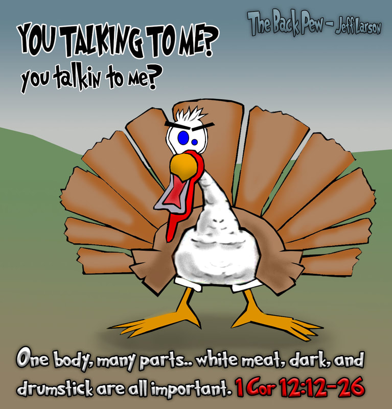 bible cartoons, turkey cartoons, thanksgiving cartoons, defiant turkey cartoons